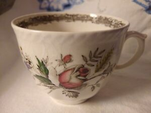 Vintage England Bone China Coffee Tea Cup Pink Roses Floral Johnson Bros