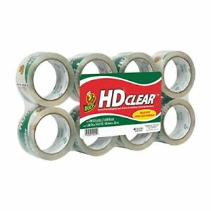 Duck Brand Hd Clear Heavy Duty Packaging Tape Refill 1 88 X 54 6 Yd 8 Pack