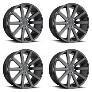 26x10 Dub Shot Calla S219 6x5 5 6x139 7 30 Gloss Black Wheels Rims Set 4
