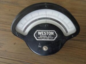 Vintage Weston Model 271 Milliamperes D c Meter Gauge