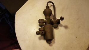 Antique Steam Engine Brass Oiler Detroit Michigan Parts Or Restoration Project