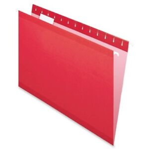 Pendaflex Color Hanging Folder Legal 8 50 X 14 1 5 Tab Cut Red 25