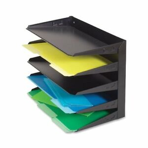 Mmf Steelmaster Horizontal Desktop File Organizer Wall Mountable 12 1