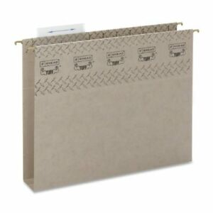 Smead 64240 Steel Gray Tuff Hanging Box Bottom Folders With Easy smd64240