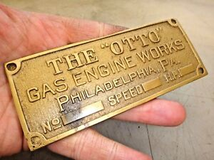The Otto Brass Name Tag Reproduction Hit And Miss Old Gas Engine