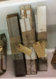 Antique Bead Board Bundles Weathered Reclaimed Rustic Arts Crafts Wood
