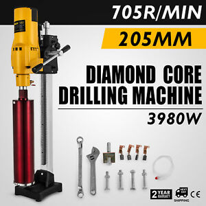 8 Diamond Core Drill Concrete Drill Handheld And Stand Drill Bits 3980w Vevor