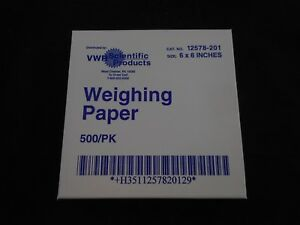 Vwr Disposable Weighing Paper Lightweight 6 X 6in Pack Of 500 Pieces 12578 201
