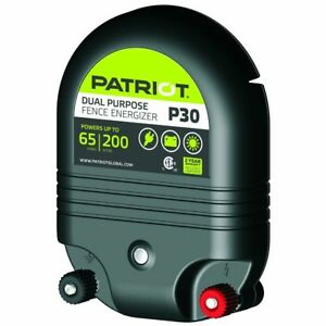 Patriot P30 Dual Purpose Electric Fence Energizer 3 0 Joule Fencer Charger