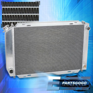 For 79 93 Ford Mustang Foxbody V8 v6 Lx gt cobra 3 row core Aluminum Radiator