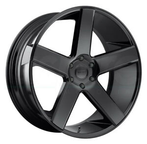 One 30x10 Dub Baller S216 5x5 5 5x139 7 25 Gloss Black Wheels Rims