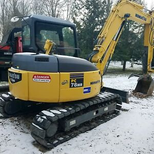 Komatsu Pc78mr 2007 Very Low Hours Excellent Condition Hydraulic Thumb Coupler