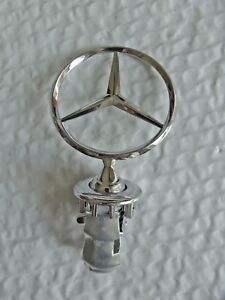 New For Mercedes Benz Hood Emblem Badge Star Stand Up Front Logo W126 Free Ship