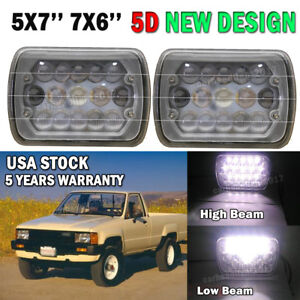 7x6 5x7 Led Work Lamp Head Light Hi Lo Beam For Toyota Tacoma Pickup Mr2 Celica