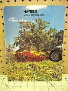 1983 Sperry New Holland Haybine Mower Conditioners Sales Flyer Brochure Ad