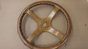 Antique Car All Wooden Steering Wheel Mt 2512