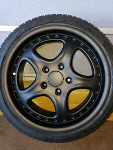 Rh German 18 Inch Black Powder Coated Rims 5 X 130 4 New Falken Azenis 225 40 18