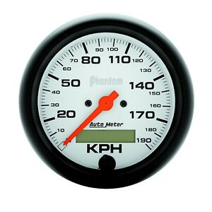 Autometer 5887 M Phantom In Dash Electric Speedometer With White Dial Face