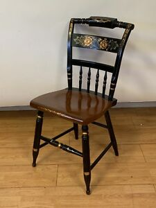 Hitchcock Black Harvest Inn Chair Dining Chair Signed