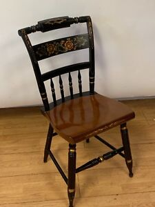 Hitchcock Black Harvest Inn Chair Dining Chair Signed 1