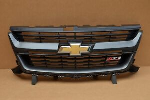 Take Off 15 16 17 18 Chevrolet Chevy Colorado Z71 Front Grille Grill Black Oem
