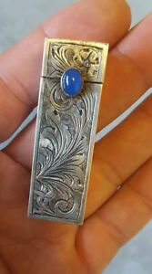 Antique Sterling Silver Lipstick Case Compact With Mirrow Very Unusual
