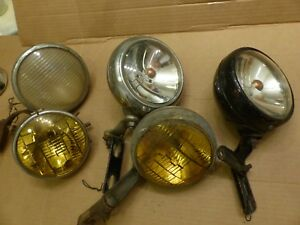 1930 s Fog Lights Amber Desoto 1932 1934 Plymouth Dodge Ford Chevy Olds Buick 39