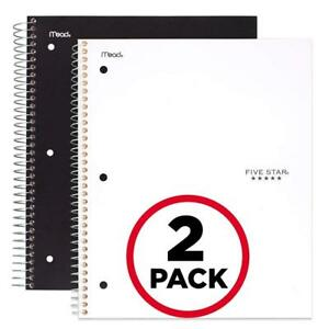 Five Star Spiral Notebooks 5 Subject College Ruled Paper 200 Sheets 11 X 8 1