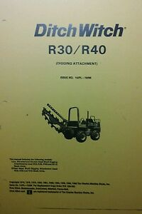 Ditch Witch R30 Tractor Digging Attachment Owner Install Parts Manual Trencher