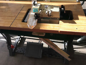 Industrial Overlock taiko T750 3 Thread Merrow Stitch on Stand With 110 V Motor