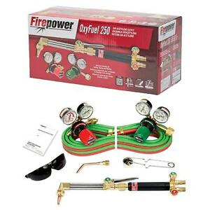 Victor Firepower 0384 2571 Oxy acetylene Outfit Torch Regulator Kit Cga 510 Med