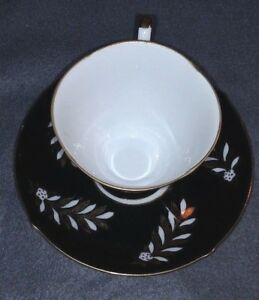 Vintage Tea Cup And Saucer Set Shafford Hand Decorated In Japan Mid Century
