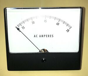 Panel Meter 1359md0 75 5 Aca 4 5 Ul Wv Simpson Electric 35080 5aca 75aca