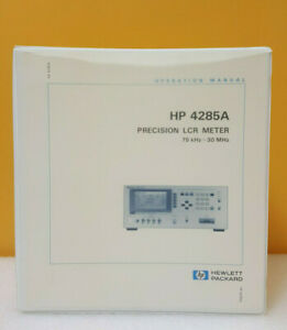 Hp Agilent 04285 90000 4285a Precision Lcr Meter Operation Manual