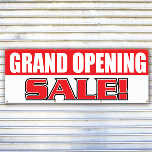 Grand Opening Sale Banner Sign