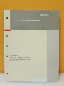 Hp Agilent 04352 90057 4352b Vco pll Signal Analyzer Hp ib Programing Manual