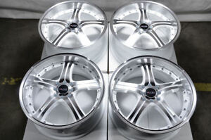 18 Wheels Honda Civic Accord Galant Lancer Aerio Corolla White Rims 4x100 4x114