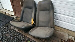 1970 1971 Ford Torino Ranchero Mercury Cyclone Black Bucket Seats Pair Cores