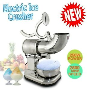 All Stainless Steel Ice Shaver Maker Snow Cone Machine Sno Shaved Icee El New
