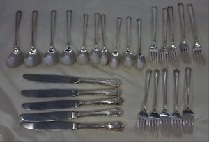 25 Pcs Of Fine Arts Processional Sterling Silver Flatware Never Used