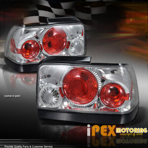 For 1993 1997 Toyota Corolla Chrome Tail Light Brake Lamps With Bulbs Wiring