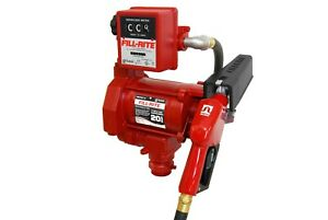 Fill rite Fr701va 115 Volt Ac Fuel Transfer Pump W Meter And Automatic Nozzle
