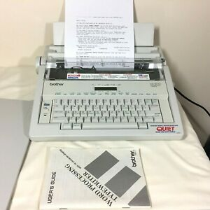 Brother Ax 500 Word Processor Electric Typewriter With Manual