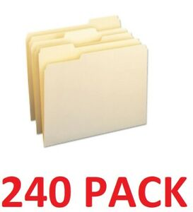 Smead 11928 Office File Folders 1 3 Cut Assorted One ply Top Tab Letter 240 pk