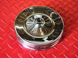 Power Steering Pulley 2 Groove Gm Chev Pontiac Olds Chevrolet Chrome Steel 8947