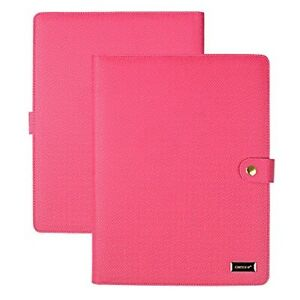 Women s Portfolio Resume Folder Organizer Pu Leather File Phone Pink Padfolio