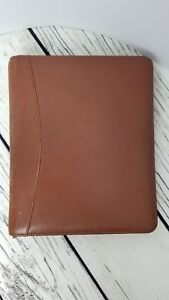 Franklin Quest Brown Full Grain Nappa Leather Planner Zipper Binder W Inserts
