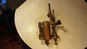 Antique Lunkenheimer Oiler Steam Engine Hit Miss Brass Senior Cincinnati Ohio