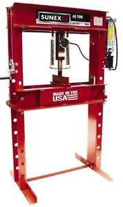 Sunex Tools 40 Ton Air hydraulic Shop Press 8 1 4 Inch Stroke 5740ah