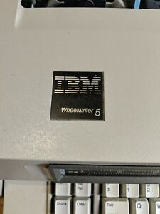 Ibm Wheelwriter 5 Electronic Typewriter With Reference Cards Works Great